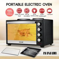 Maxkon 48L Portable Oven Electric Convection Toaster with Rotisserie & Hotplates