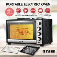 Maxkon 48L Portable Oven Electric Convection Toaster 2 Layers with Hotplates
