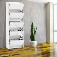 25 Pairs Mirrored Shoe Storage Cabinet