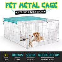 1.8M Pet Metal Cage Playpen Dog Cat Enclosure with Fabric Cover