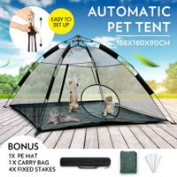 Outdoor Pop-up Pup Tent Portable for Pets Dogs Cats with Bonus PE Mat & Carry Bag One Step Assembly
