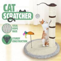Cat Scratching Pole Tree Pet Climbing Frame Scratcher with Toys 53CM - Grey