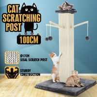 100CM Cat Scratching Post Tree Pet Climbing Frame Scratcher with Toys