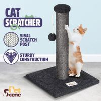 43CM Cat Scratching Post Scratcher Pole Climbing Frame with Toy
