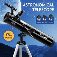 NEW Astronomical Telescope 76mm Aperture 350x Zoom