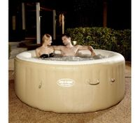 Tan Lay-Z-Spa 4-6 Person Inflatable Hot Tub
