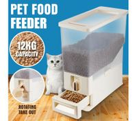 Automatic Dog Cat Rabbit Pet Feeder Food Storage Dispenser Dog Bowl