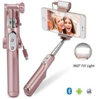 Protable Cell Phones 3 in 1 Bluetooth With 360 Degrees Mirror Selfie Stick