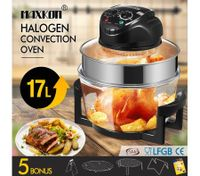 Maxkon 17L Halogen Oven Turbo Convection Cooker Electric Air Fryer Black