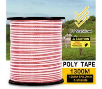 1300M Roll Polytape Wire Electric Stainless Steel UV Stabilized Fence Poly Tape for Livestock