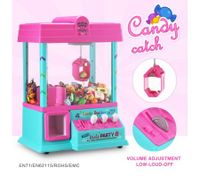 Toy Claw Machine Candy Catch Grabber Game with Lights & Music 24 Coins