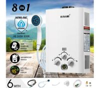 MAXKON 520L/Hr Portable Outdoor Gas LPG Instant Shower Water Heater - White