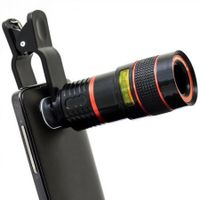 Universal 8X Optical Zoom Telescope Camera Lens For Mobile Phones With Clip