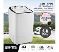 Maxkon 4.6KG Washing Machine Cleaner Mini Top Load Washer Dryer - Black/White