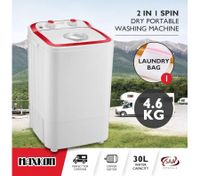 Maxkon 4.6KG Washing Machine Cleaner Mini Top Load Washer Dryer - Red/White