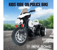 Kids Motorcycle Electric Harley Style Ride on Motorbike with 3 Anti-slip Wheels