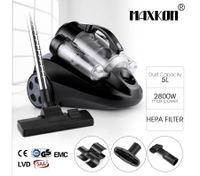 5L Multi-Cyclonic Bagless Vacuum Cleaner w/ HEPA Filter Black