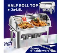 2 x 4.5L Stainless Steel Bain Marie Chafing Dish