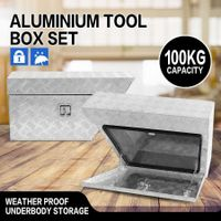 Under Tray Tool Box Pair Aluminium Tool Boxes Rubber Seal Trailer Box Ute Tool Boxes with Stainless Steel Lock