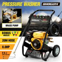 8HP Petrol Pressure Washer High Pressure Cleaner Brass Pump with 20M Hose