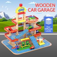 Wooden Car Garage Toy Car Park Car Ramp Car Parking Garage Playset