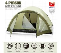 Bestway 2-Tier Camping Hiking Outdoor 4 Person Waterproof Tent w/Carry Bag
