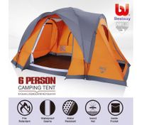 Bestway 6 Person Family Hiking Camping 3-Tier Outdoor Dome Tent w/Carry Bag