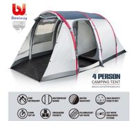 Bestway 4 Person Air Camping Hiking 2-Tier Outdoor Waterproof Tent w/Pump & Carry Bag