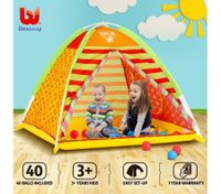 Bestway Kids Princess Childrens Indoor Outdoor Folding Play Tent w/40 Balls