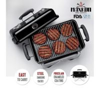 Maxkon Mini BBQ Grill Outdoor Camping Portable Charcoal Barbecue with Folding Legs