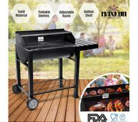 Maxkon BBQ Charcoal Grill Outdoor Portable Barbecue w/ Foldable Side Shelf