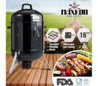 "Maxkon Vertical 16"" Charcoal Barrel Smoker Portable Outdoor Camping BBQ Grill"
