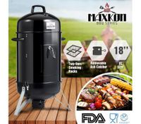 "Maxkon Vertical 18"" Charcoal Barrel Smoker Portable Outdoor Camping BBQ Grill"