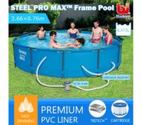 Bestway 3.66M Above Ground Metal Frame Swimming Pool w/Filter Pump