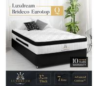Luxdream Queen Mattress 32cm Brideco 7-Zone Euro Top Pocket Spring Bed