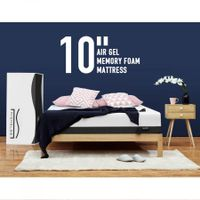 Nighslee Queen Mattress 25.4cm Cool Gel Memory Foam Bed