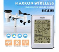 Maxkon Wireless Solar-Powered Touch Screen Home Weather Forecast Station