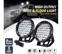 DASHOTO 2x9inch 36900w CREE Round spot LED driving Lamp High Density spotlights Headlight Spot Flood work light for Offroad 4WD Car Truck ATV suv 4x4 black new