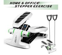 Mini Stepper Fitness Equipment Home Gym Exercise Workout Machine w/ Resistance Bands - Green