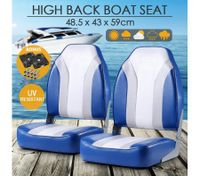 Pair of Speed Fishing Boat Seat Ocean Seat for Helmsman with Swivel Base