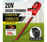 Cordless Hedge Trimmer Handheld Battery Powered Garden Tool W/ Blade Cover
