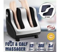 3D Shiatsu Foot Ankle Calf Massager - 4 Motors Silver