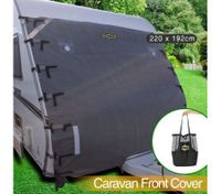 Caravan Front Window Cover Waterproof Towing Protection Universal w/Carry Bag - 220 x 192cm