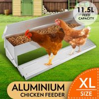 11.5L Automatic Chicken Feeder Poultry Chook Treadle Feeding Trough