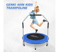 "Genki 40"" Kids Mini Round Trampoline Indoor Outdoor Exercise Rebounder w/Handle"
