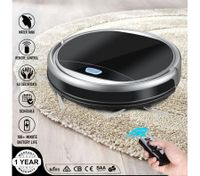 Maxkon Smart Robot Vacuum Cleaner w/Mop & Water Tank Strong Suction for Short Carpet - Black