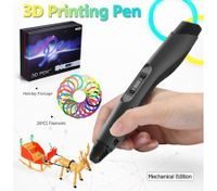 Ailink 3D Printing Pen Drawing Gift with Shovel & 20 PCS Filaments - Black