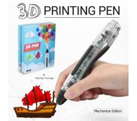 Ailink 3D Printing Pen 1 Button Operation Drawing Gift Transparent Body w/Shovel