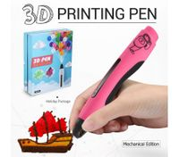 Ailink 3D Printing Pen 1 Button Operation Drawing Gift w/Shovel - Pink