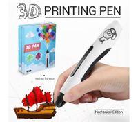 Ailink 3D Printing Pen 1 Button Operation Drawing Gift w/Shovel - White